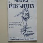 Program – 40:e Fältstaffetten i Slottsskogen och på Högsbo Skjutbana. Söndagen den 7 okt 1984 kl. 08.00