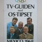 TV-guiden med OS-tipset. Mexico 1968