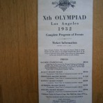 Xth Olympiad Los Angeles 1932 – Complete Program of Events