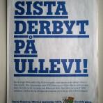 Sista derbyt på Ullevi! – Derby Classico. Ullevi, 1 september kl 20. En sista gång
